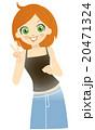 女性 ベクター 笑顔のイラスト 20471324