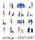 Pilot And Stewardess Flat Icons Set 20471487