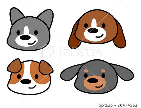 犬 かわいい 顔 イラストのイラスト素材 20474563 Pixta