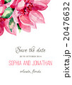 Wedding invitation watercolor with flowers. 20476632
