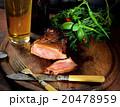 バックグランド ビール ステーキ肉の写真 20478959