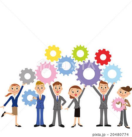 チームワークとビジネスマン 20480774