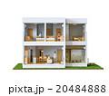 二階建て住宅と家族 20484888