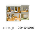 二階建て住宅と家族 20484890