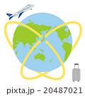 地球 飛行機 海外旅行のイラスト 20487021