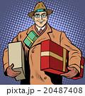 ギフト 休暇 男の人のイラスト 20487408