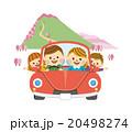 家族 ドライブ ファミリーのイラスト 20498274