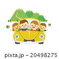 家族 ドライブ ファミリーのイラスト 20498275