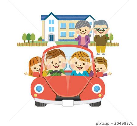 ドライブをする家族 その7 20498276