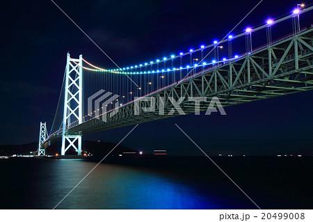 明石海峡大橋 レインボーライトアップ 20499008