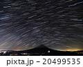 御坂山地・雪頭ヶ岳から星空と富士山 20499535