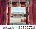 平安神宮の手書きスケッチ  巫女さん 20502728