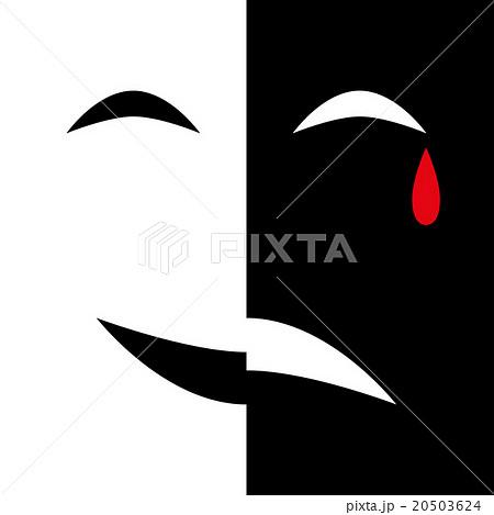 Mask Smile Sad Cryのイラスト素材 20503624 Pixta