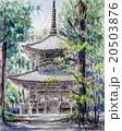 高野山西塔のスケッチ 20503876