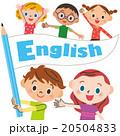 英語の旗を持つ子供 20504833