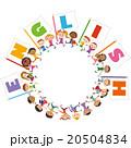 英語の旗と子供達 20504834