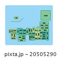 日本地図 20505290