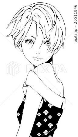 ショートカットの女性 ファッションのイラスト素材 20511946 Pixta