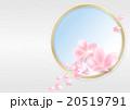 桜の花びら(和柄背景ver. / 横) 20519791