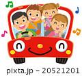 ドライブ 家族 人物のイラスト 20521201