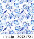 Blue Watercolor Tulip Pattern 20521721