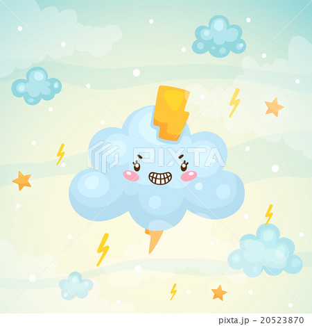 Cute cloud and thunderstorm 20523870