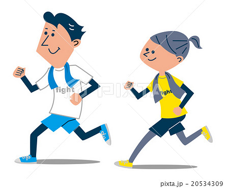 ジョギング カップル 20534309