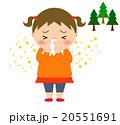 鼻をかむ 花粉症 鼻水のイラスト 20551691