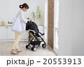 ベビーカーに乗る赤ちゃんとお母さん 20553913