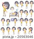 女性 人物 病気のイラスト 20563046