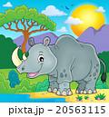 サイ さい 犀のイラスト 20563115