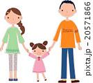 家族 核家族 三人家族のイラスト 20571866