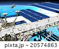 宇宙 宇宙遊泳 宇宙ステーションのイラスト 20574863