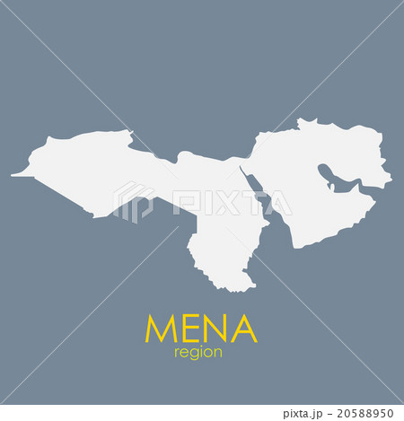 mena region map vector illustrationのイラスト素材 20588950 pixta