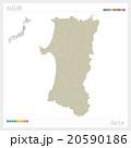 秋田県の地図 20590186