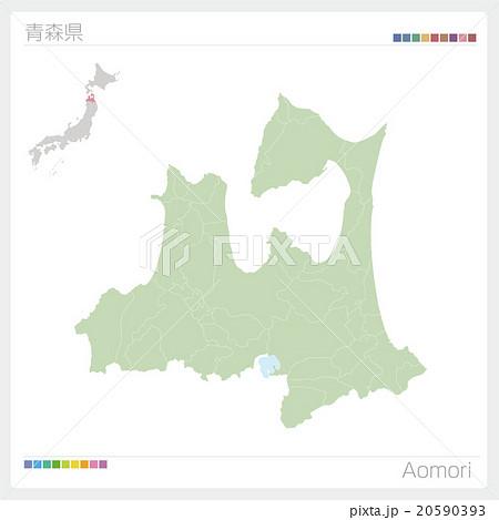 青森県の地図 20590393