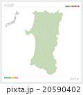秋田県の地図 20590402