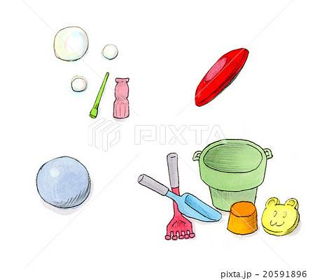 子供のおもちゃ 外遊びのイラスト素材 20591896 Pixta