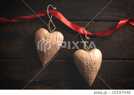 Heart shapes objectsの写真素材 [20597046] - PIXTA