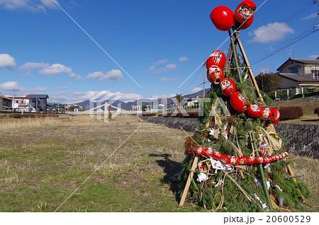 信州 松本地方のどんと焼きのやぐら 小正月の行事 三九郎 民間伝承行事 20600529