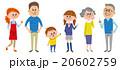 3世代家族 全身 20602759