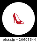 simple lady court shoe isolated red icon eps10 20603644