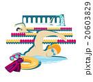 Swimming Sport Concept Icon Flat Design 20603829