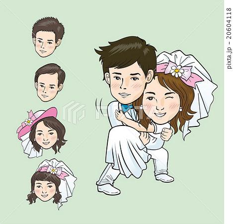 wedding cartoonのイラスト素材 20604118 pixta