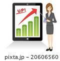 ビジネスウーマン タブレット ビジネスのイラスト 20606560