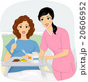 助ける ブレックファースト 朝ごはんのイラスト 20606952