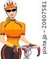 Girl Athlete Bicycle Racer 20607581