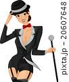 Girl Cabaret Costume Tuxedo 20607648