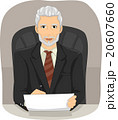 Senior Man Businessman Executive Chair 20607660