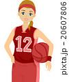 バスケ バスケットボール ドローイングのイラスト 20607806